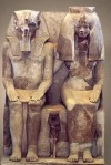 Amenhotep III with queen tiye